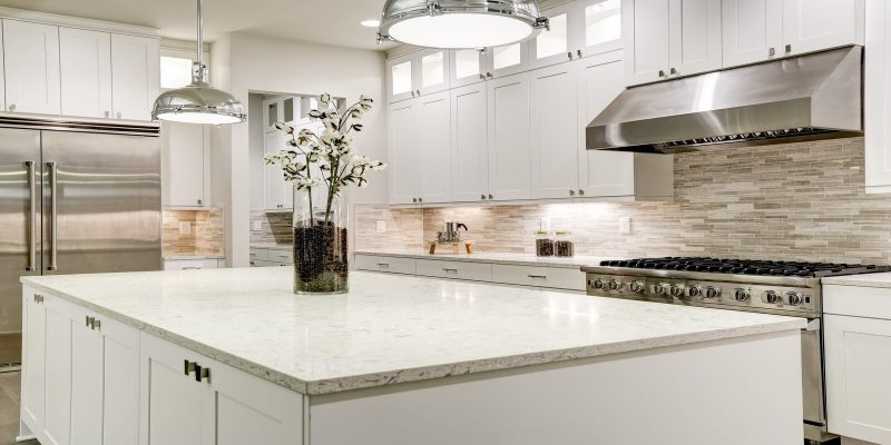 Custom quartz kitchen countertops
